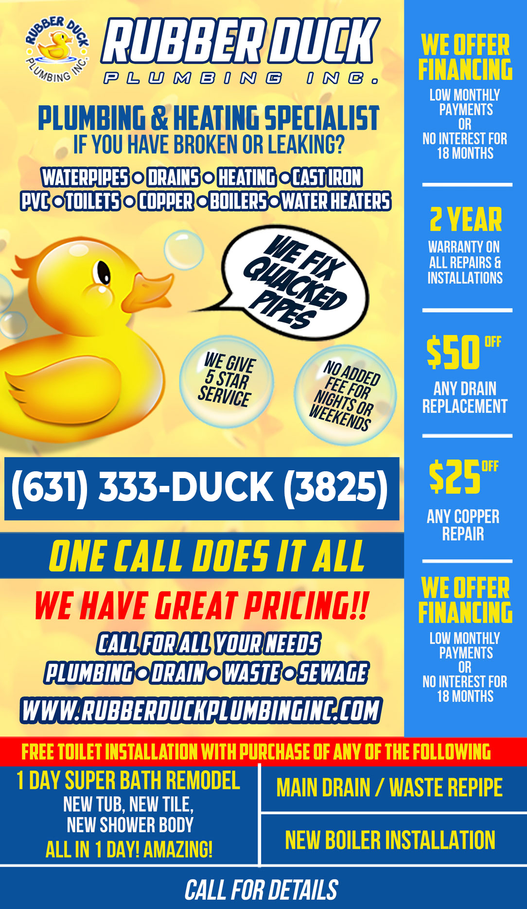 Current Rubber Duck Plumbing Ad